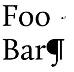 Foo and Bar separated by a line break