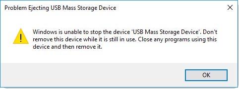 Problem Ejecting USB Mass Storage Device
