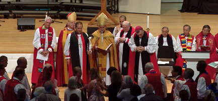 Andy Lines immediately after the consecration